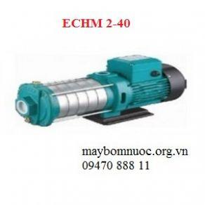 Bơm nước đa tầng cánh trục ngang đầu inox ECHM 2-40