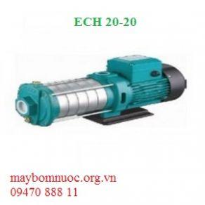 Bơm nước đa tầng cánh trục ngang đầu inox ECH 20-20