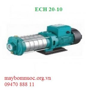 Bơm nước đa tầng cánh trục ngang đầu inox ECH 20-10