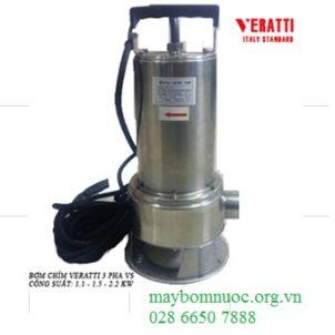 Máy bơm chìm hút bùn toàn thân Inox Veratti VS 2200w (Ý)