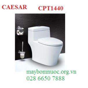 Bàn cầu hai khối thoát ngang CAESAR CPT1440